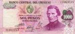 1000 Urugvajaus pesų.