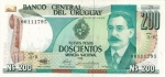 200 Urugvajaus naujųjų pesų.