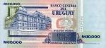 10000 Urugvajaus naujųjų pesų.