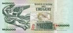 20000 Urugvajaus naujųjų pesų.