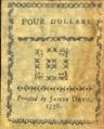 4 JAV doleriai.