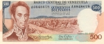 500 Venesuelos bolivarų.