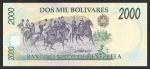 2000 Venesuelos bolivarų.