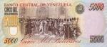 5000 Venesuelos bolivarų.