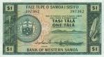 1 Vakarų Samoa tala.