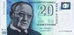 20 Suomijos markių.