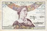25 Prancūzijos Gvianos frankai.