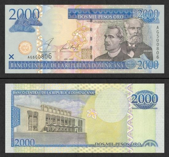 2000 Dominikos pesų.