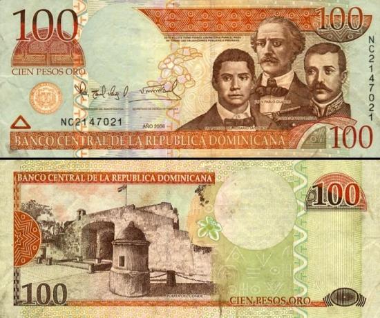100 Dominikos pesų.