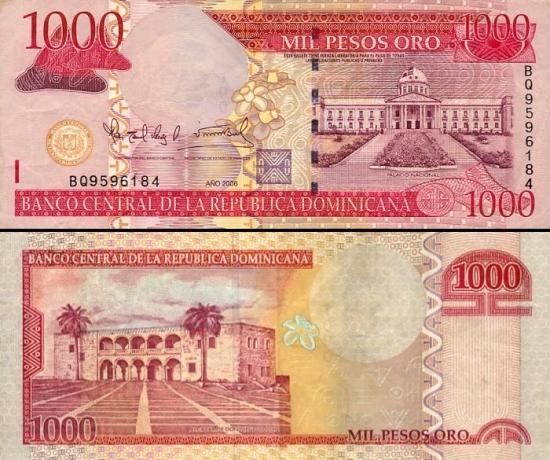 1000 Dominikos pesų.