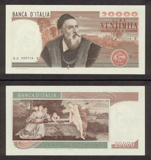 20000 Italijos lirų.