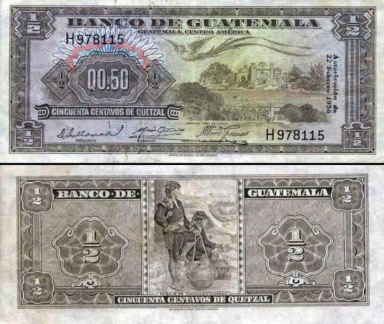 50 Gvatemalos centavų.