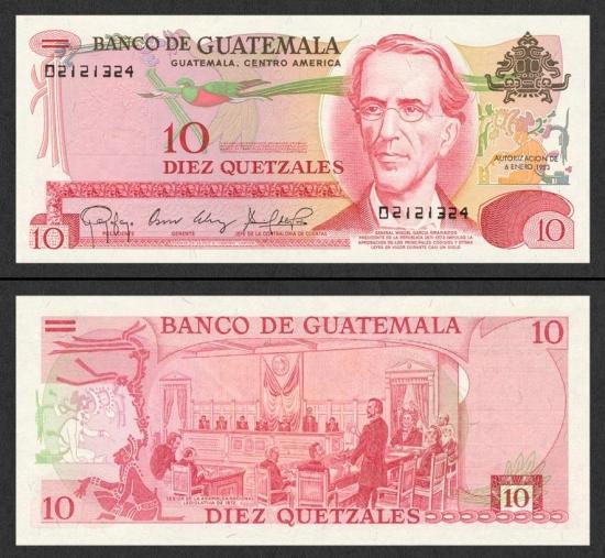 10 Gvatemalos kvedzalų.