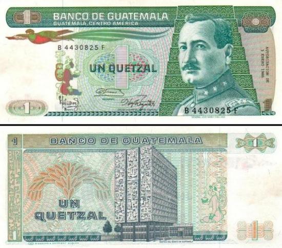 1 Gvatemalos kvedzalas