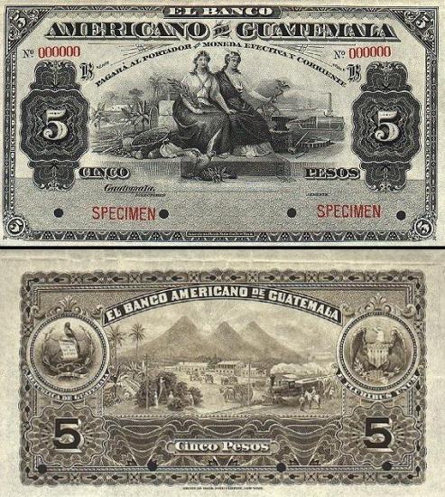 5 Gvatemalos pesai.