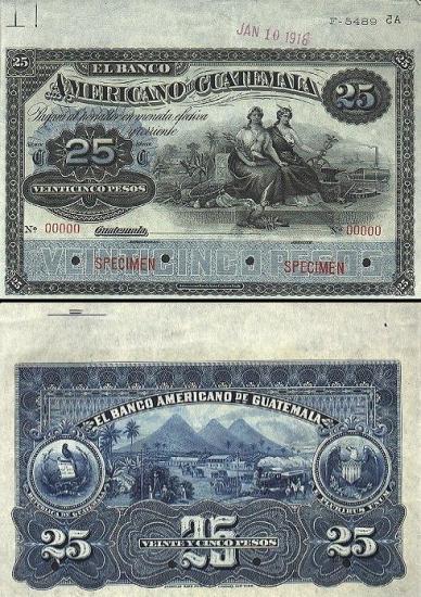 25 Gvatemalos pesai.