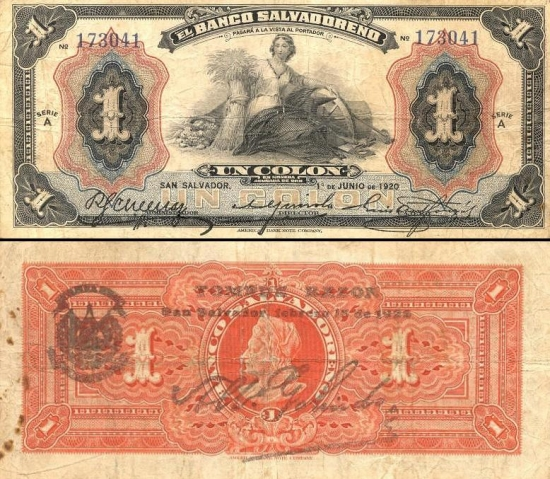 1 Salvadoro kolonas.