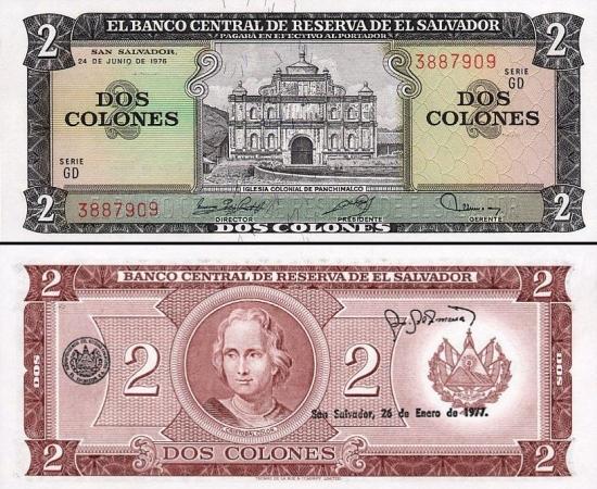 2 Salvadoro kolonai.