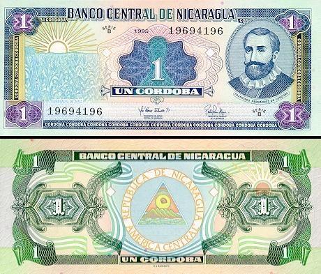 1 Nikaragvos kordoba.