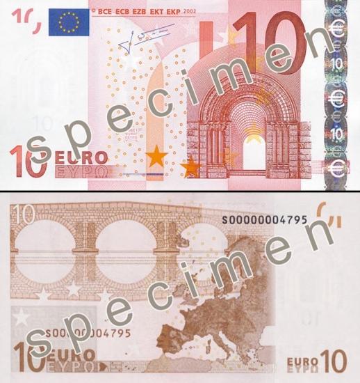 10 Eurų.