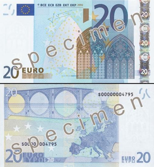 20 Eurų.