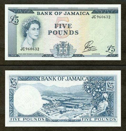 5 Jamaikos svarai.