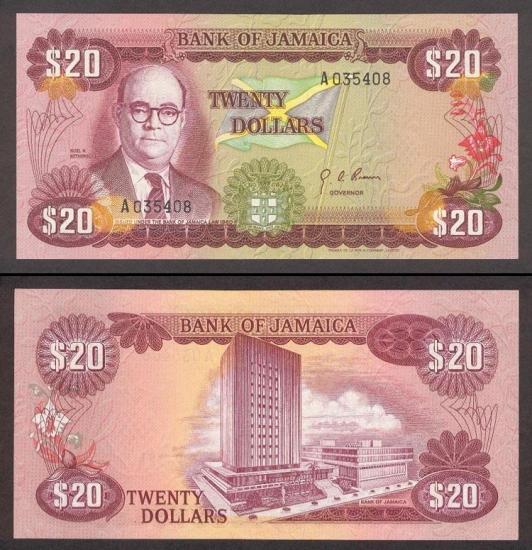 20 Jamaikos dolerių.