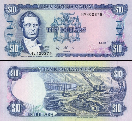 10 Jamaikos dolerių.