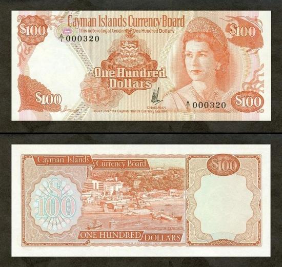 100 Kaimanų salų dolerių.