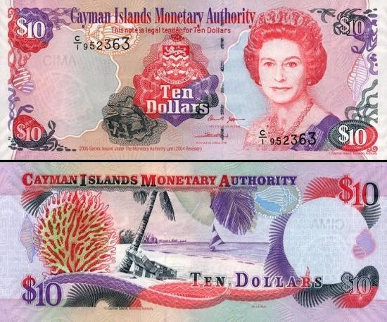 10 Kaimanų salų dolerių.