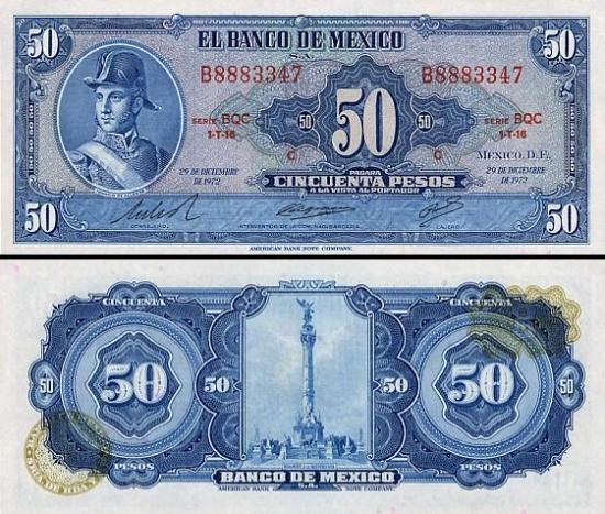 50 Meksikos pesų.