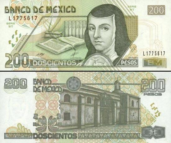 200 Meksikos pesų.