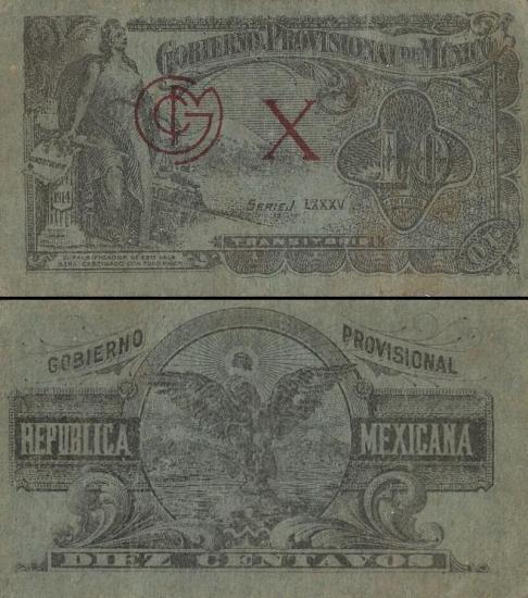 10 Meksikos centavų.