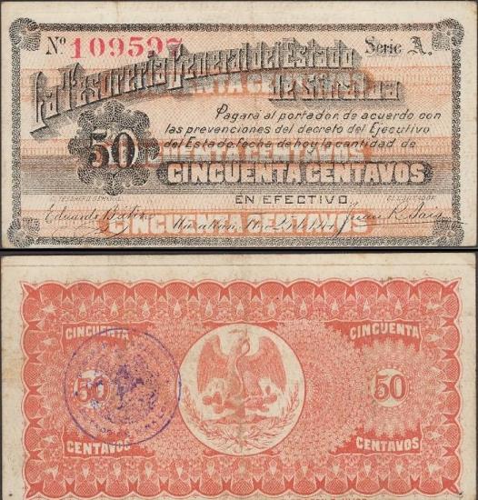 50 Meksikos centavų.