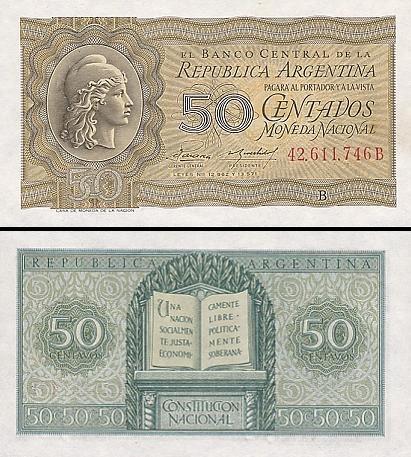 50 Argentinos sentavų.