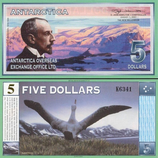 5 Antarktidos doleriai.