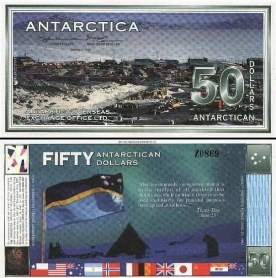 50 Antarktidos dolerių.