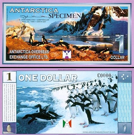 1 Antarktidos doleris.