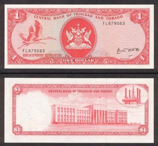 1 Trinidado ir Tobago doleris.