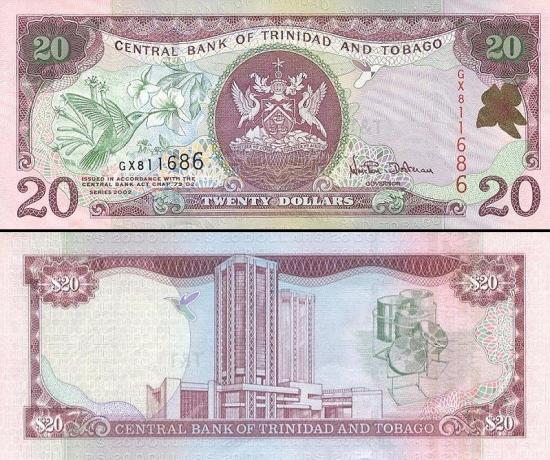 20 Trinidado ir Tobago dolerių.