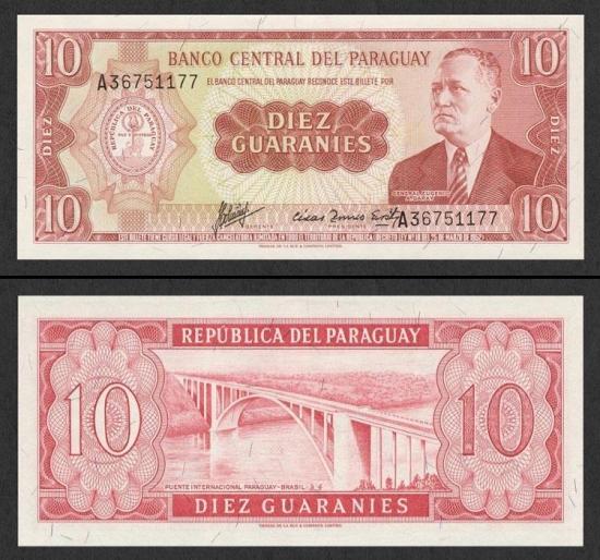 10 Paragvajaus gvaranių.