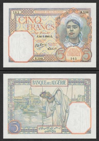 5 Alžyro frankai.