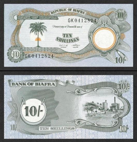 10 Biafros šilingų.