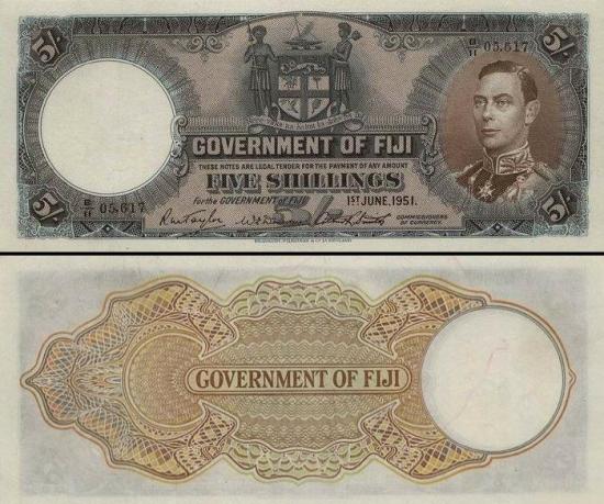 5 Fidžio šilingai.