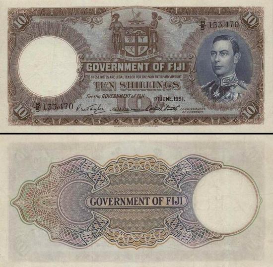 10 Fidžio šilingų.