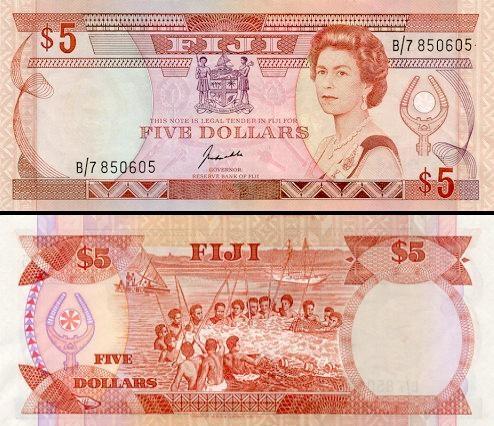 5 Fidžio doleriai.