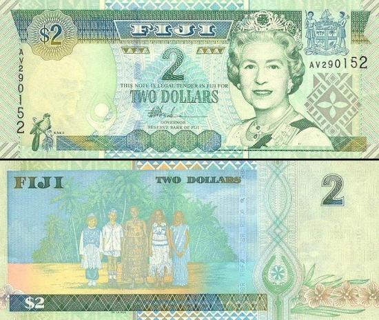 2 Fidžio doleriai.
