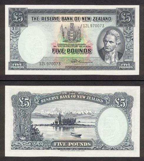 5 Naujosios Zelandijos svarai.