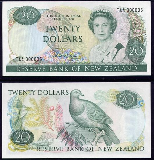 20 Naujosios Zelandijos dolerių.