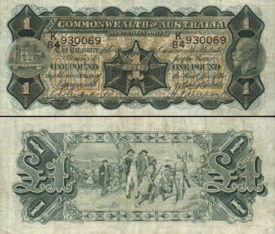 1 Australijos svaras.
